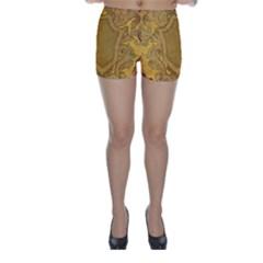 Vintage Scrapbook Old Ancient Skinny Shorts