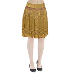 Vintage Scrapbook Old Ancient Pleated Skirt