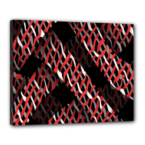 Weave And Knit Pattern Seamless Canvas 20  X 16