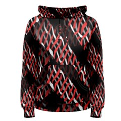 Weave And Knit Pattern Seamless Women s Pullover Hoodie