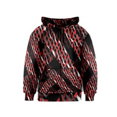 Weave And Knit Pattern Seamless Kids  Zipper Hoodie