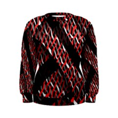 Weave And Knit Pattern Seamless Women s Sweatshirt