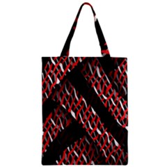 Weave And Knit Pattern Seamless Zipper Classic Tote Bag