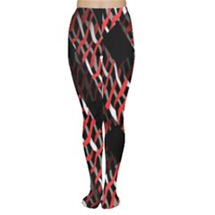 Weave And Knit Pattern Seamless Women s Tights