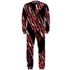 Weave And Knit Pattern Seamless OnePiece Jumpsuit (Men)