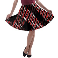 Weave And Knit Pattern Seamless A Line Skater Skirt