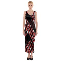 Weave And Knit Pattern Seamless Fitted Maxi Dress