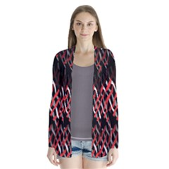 Weave And Knit Pattern Seamless Cardigans