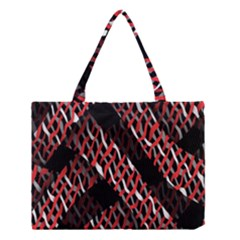 Weave And Knit Pattern Seamless Medium Tote Bag
