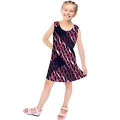 Weave And Knit Pattern Seamless Kids  Tunic Dress