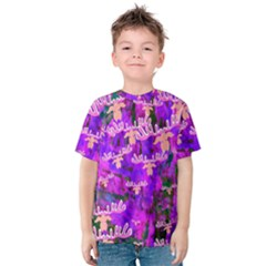 Watercolour Paint Dripping Ink Kids  Cotton Tee