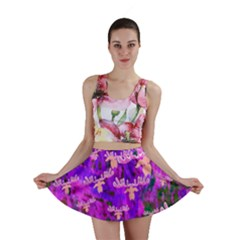 Watercolour Paint Dripping Ink Mini Skirt
