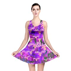 Watercolour Paint Dripping Ink Reversible Skater Dress