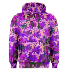 Watercolour Paint Dripping Ink Men s Zipper Hoodie