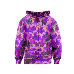 Watercolour Paint Dripping Ink Kids  Zipper Hoodie