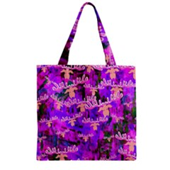 Watercolour Paint Dripping Ink Zipper Grocery Tote Bag