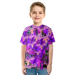 Watercolour Paint Dripping Ink Kids  Sport Mesh Tee