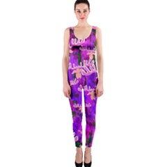 Watercolour Paint Dripping Ink Onepiece Catsuit