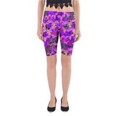 Watercolour Paint Dripping Ink Yoga Cropped Leggings