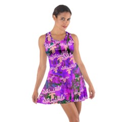 Watercolour Paint Dripping Ink Cotton Racerback Dress