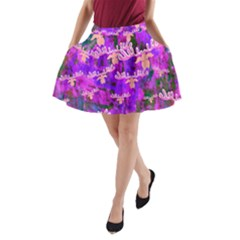 Watercolour Paint Dripping Ink A-Line Pocket Skirt