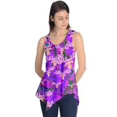 Watercolour Paint Dripping Ink Sleeveless Tunic