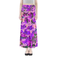 Watercolour Paint Dripping Ink Maxi Skirts
