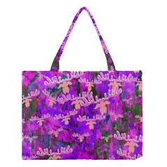 Watercolour Paint Dripping Ink Medium Tote Bag