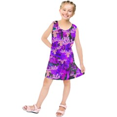 Watercolour Paint Dripping Ink Kids  Tunic Dress