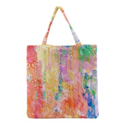 Watercolour Watercolor Paint Ink Grocery Tote Bag