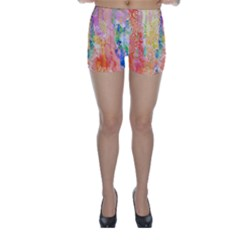Watercolour Watercolor Paint Ink Skinny Shorts