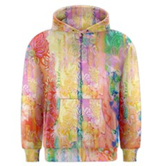 Watercolour Watercolor Paint Ink Men s Zipper Hoodie