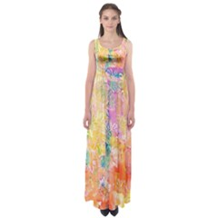 Watercolour Watercolor Paint Ink Empire Waist Maxi Dress
