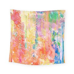 Watercolour Watercolor Paint Ink Square Tapestry (small)