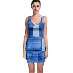 Wall Tile Design Texture Pattern Sleeveless Bodycon Dress