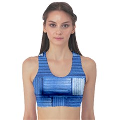 Wall Tile Design Texture Pattern Sports Bra