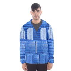 Wall Tile Design Texture Pattern Hooded Wind Breaker (men)
