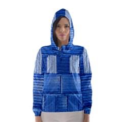 Wall Tile Design Texture Pattern Hooded Wind Breaker (women)