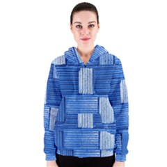 Wall Tile Design Texture Pattern Women s Zipper Hoodie