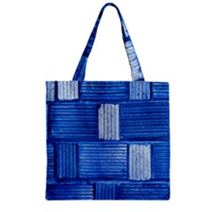 Wall Tile Design Texture Pattern Zipper Grocery Tote Bag