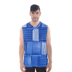 Wall Tile Design Texture Pattern Men s Basketball Tank Top