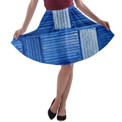 Wall Tile Design Texture Pattern A-line Skater Skirt