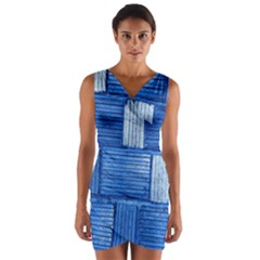 Wall Tile Design Texture Pattern Wrap Front Bodycon Dress