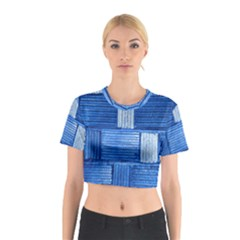 Wall Tile Design Texture Pattern Cotton Crop Top