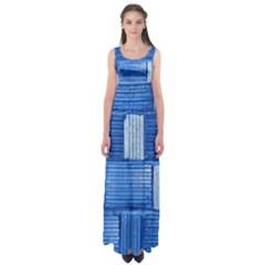 Wall Tile Design Texture Pattern Empire Waist Maxi Dress