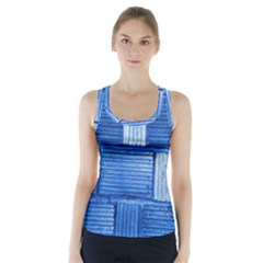 Wall Tile Design Texture Pattern Racer Back Sports Top
