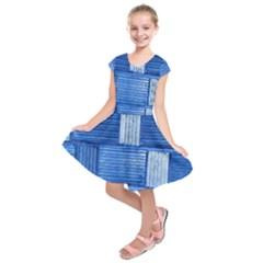 Wall Tile Design Texture Pattern Kids  Short Sleeve Dress