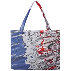 Water Reflection Abstract Blue Mini Tote Bag