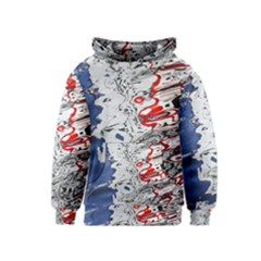 Water Reflection Abstract Blue Kids  Pullover Hoodie