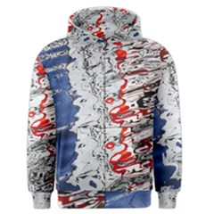 Water Reflection Abstract Blue Men s Zipper Hoodie